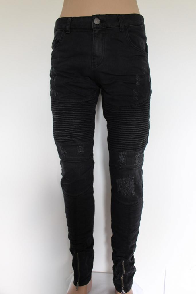Spodnie Jeansowe czarne darte