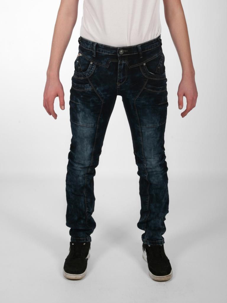 Spodnie Jeansowe DTGreen ciemne przeszywane