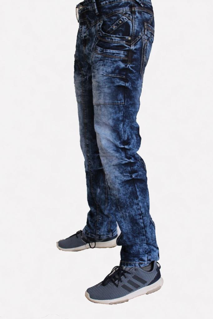 Spodnie Jeansowe DTGreen niebieskie przeszywane