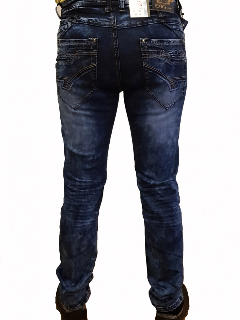 Spodnie Jeansowe DTGreen niebieskie gładkie