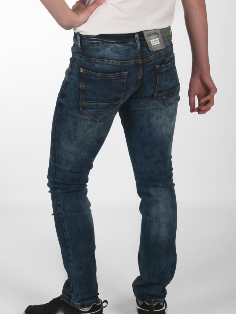 Spodnie Jeansowe niebieskie wycierane Sara