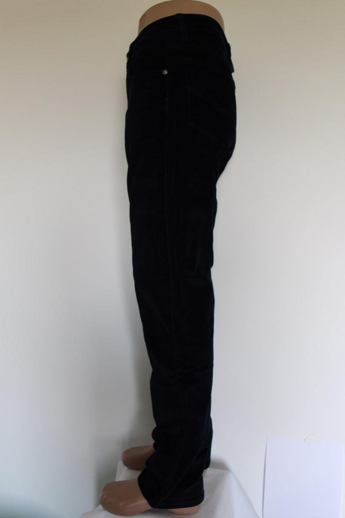 Spodnie sztruksowe granatowe