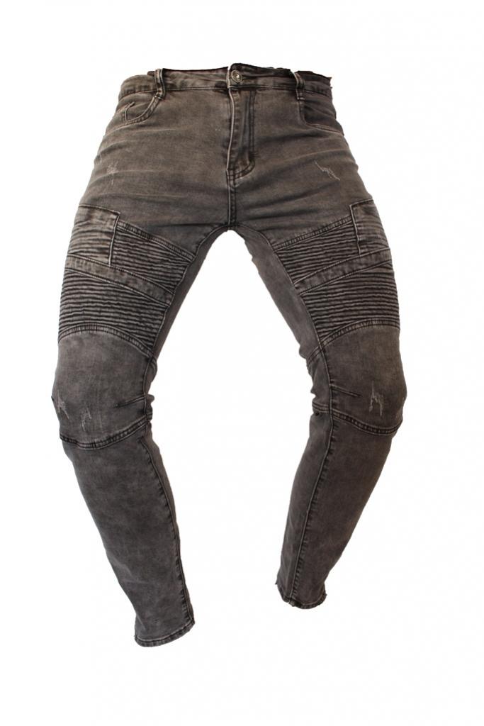Spodnie jeansy, dzinsy, męskie Stalowe przeszywane