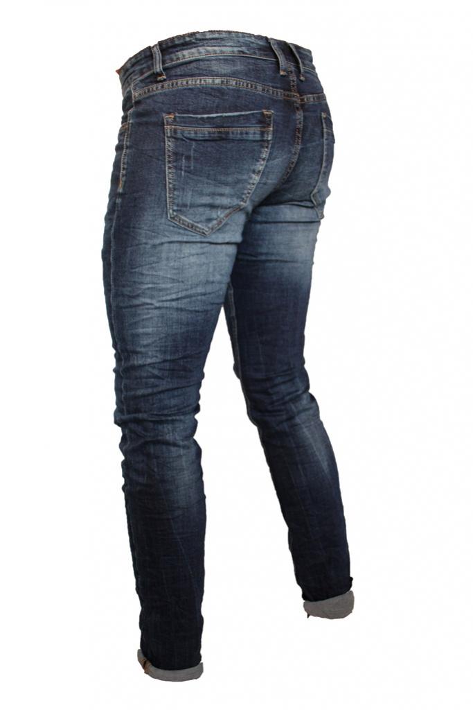 Spodnie męskie jeansy dżinsy wycierane darte TQ