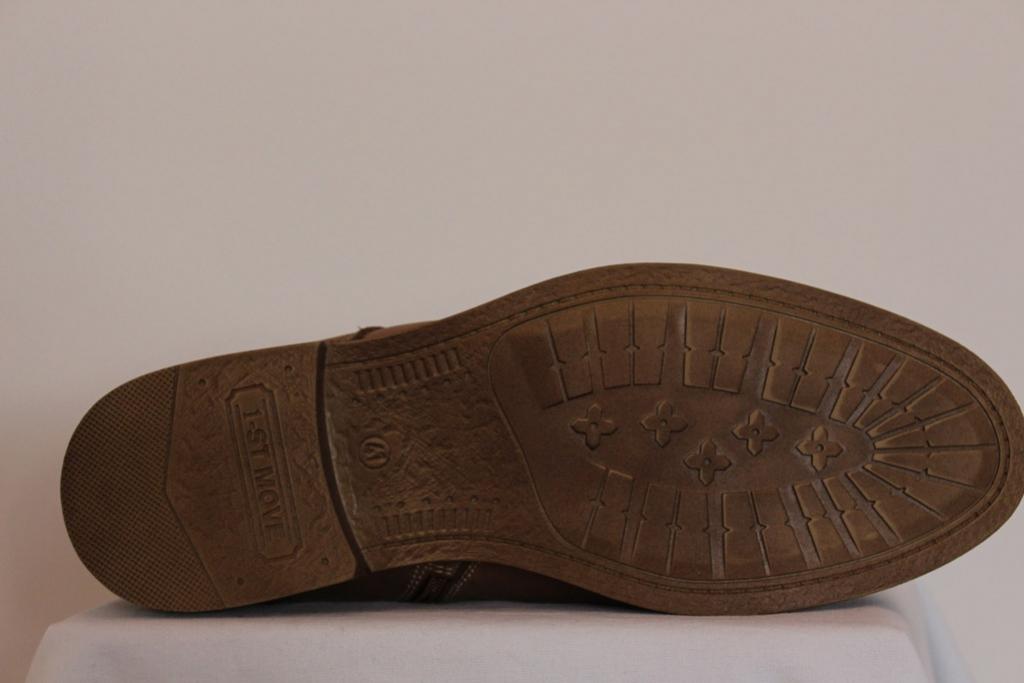 Buty męskie brąz matt zasuwane sznurowane