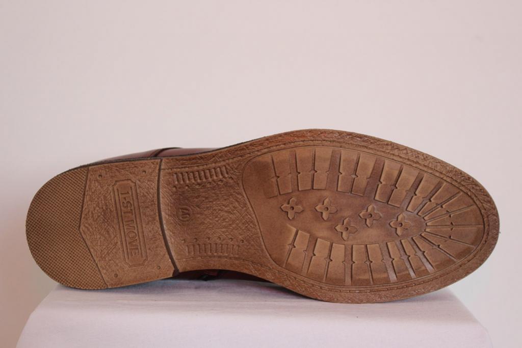 Buty męskie brąz połysk zasuwane sznurowane