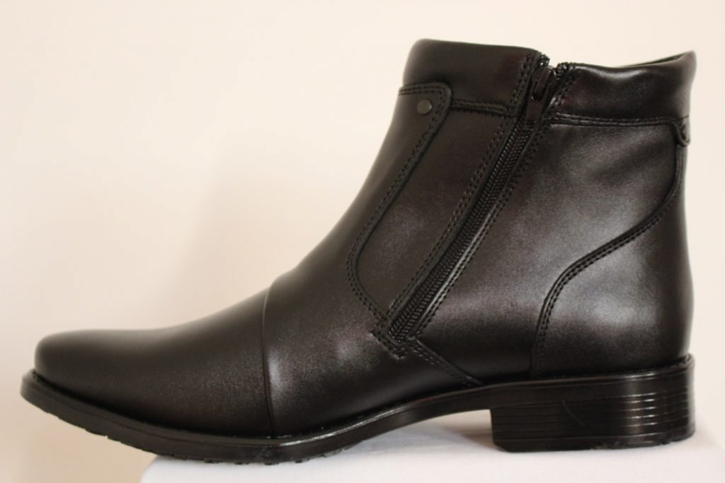 Buty męskie czarne zasuwane łączone