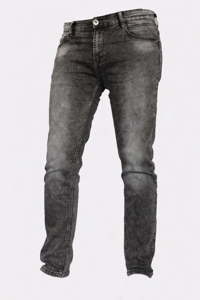 Spodnie męskie jeansowe SARA  szare z przetarciami