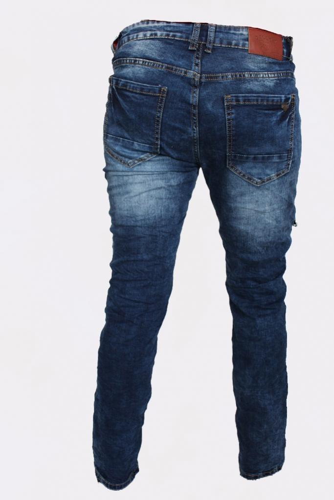 Spodnie męskie jeansy darte przeszywane Gallop