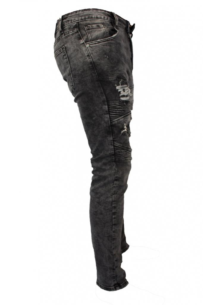Spodnie jeansy, dzinsy, męskie Stalowe darte