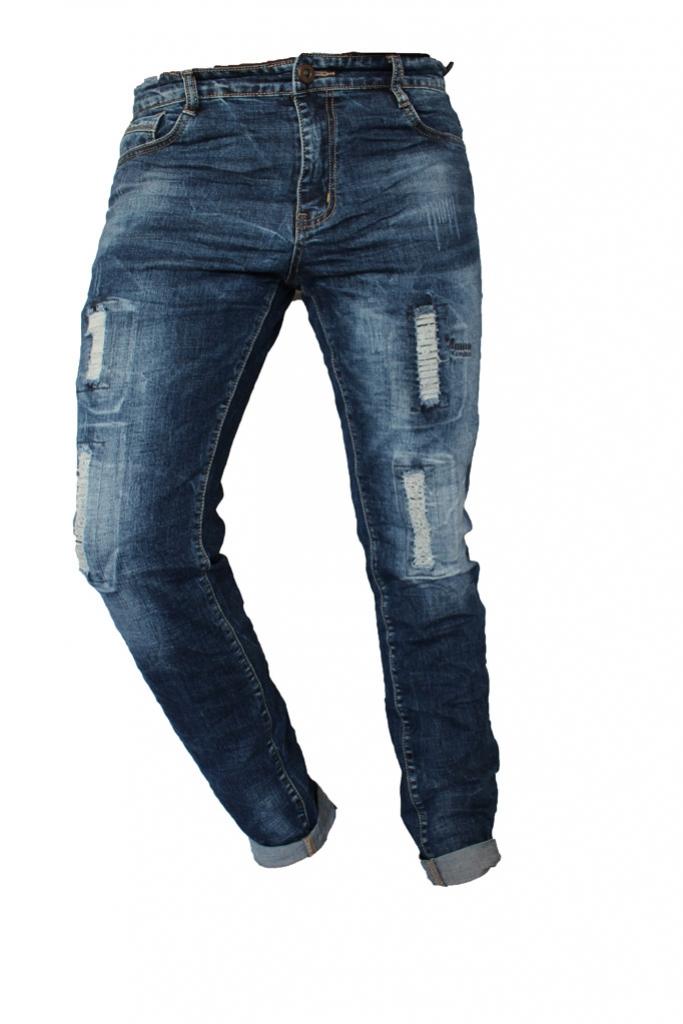 Spodnie męskie jeansy dżinsy wycierane darte